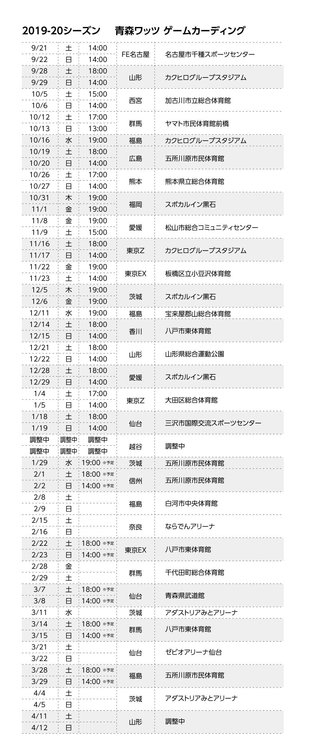 日程 b リーグ 【B1全18チーム】Bリーグの日程を一覧で見られるようにまとめてみた。